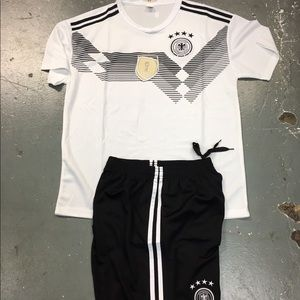 Germany soccer set jersey and short new , replica